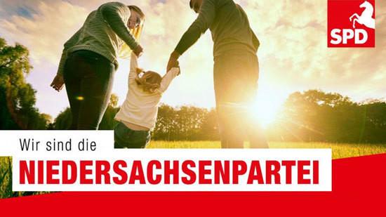 Banner: Wir sind die Niedersachsenpartei