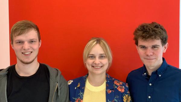 Niklas Brenten (l.), Daniel Eckhardt (r.) und Marja-Liisa Völlers