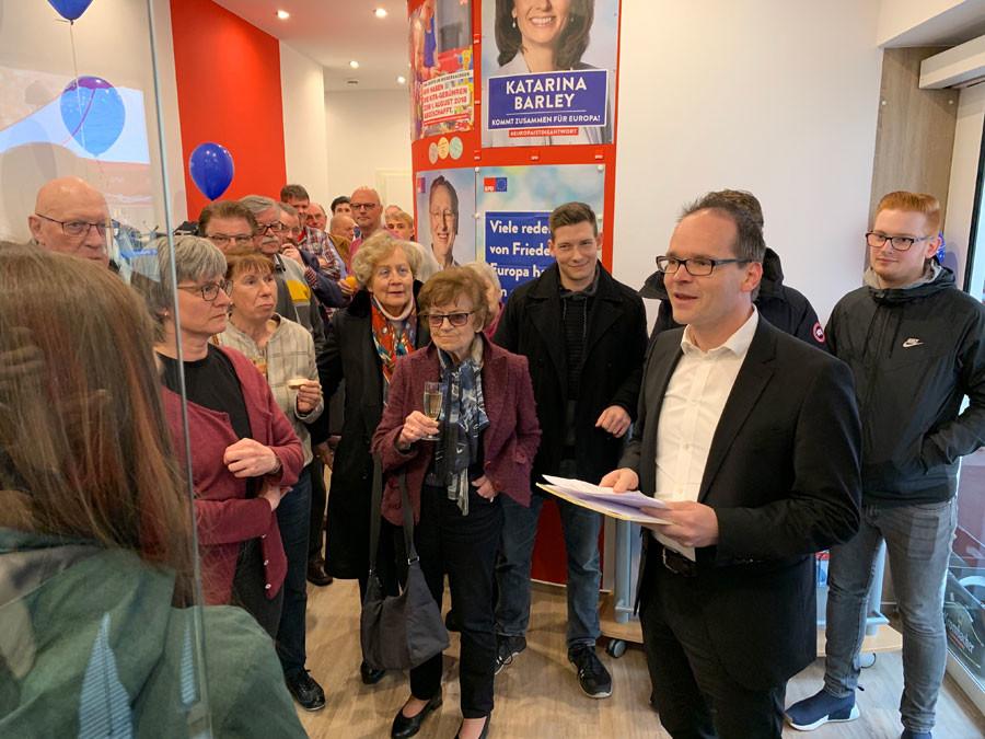 Eröffnung der neuen SPD-Geschäftsstelle