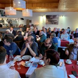 SPD-Mitglieder sowie interessierte Bürgerinnen und Bürger beim politischen Jahresauftakt des SPD-Unterbezirks Nienburg