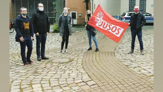 Jusos bei der Demo gegen Rechts 6. Juni 2020