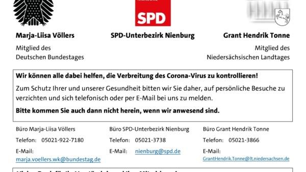 Kein Publikumsverkehr in Nienburg