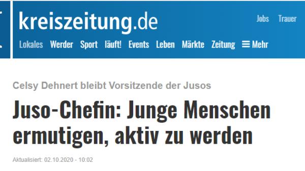 Screenshot kreiszeitung.de 02.10.2020