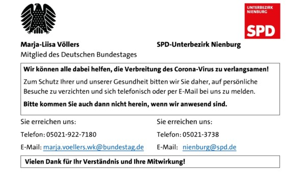 Bitte rufen Sie uns an oder schreiben Sie eine E-Mail